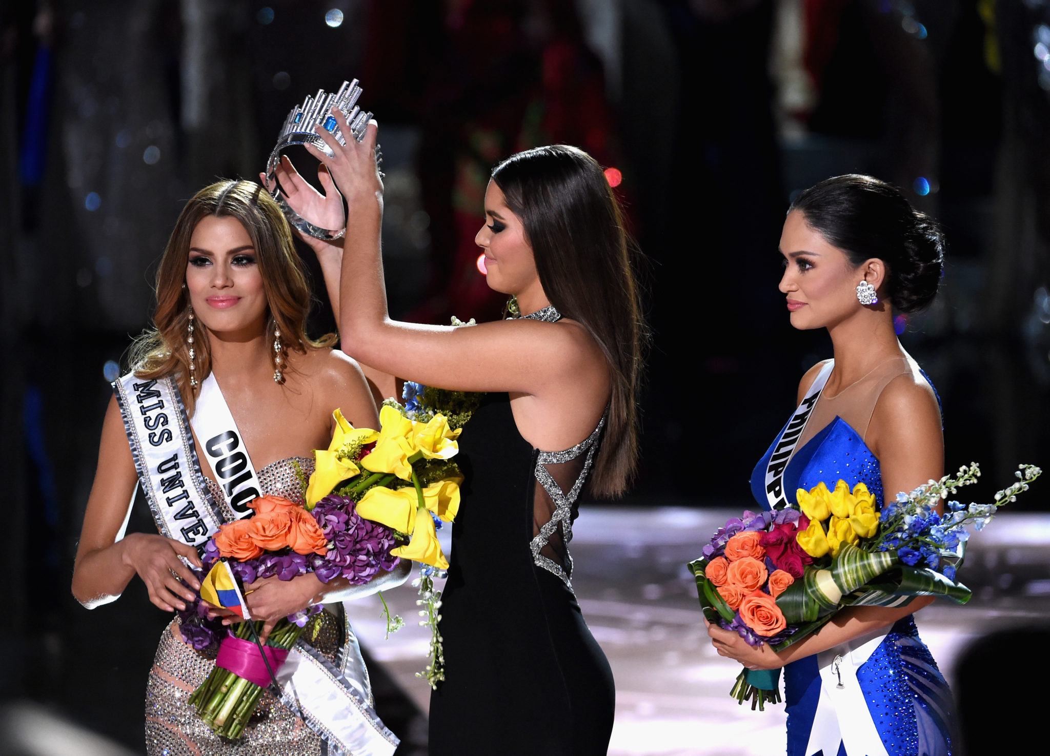 the 2015 Miss Universe Pageant at The Axis at Planet Hollywood Resort & Casino on December 20, 2015 in Las Vegas, Nevada.